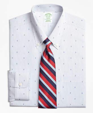 Brooks Brothers Milano Slim-Fit Dress Shirt, Non-Iron Stripe Pine