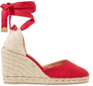 Castaner Carina 80 Canvas Wedge Espadrilles - Red