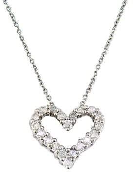 Effy Classique 14K White Gold Diamond Heart Pendant Necklace