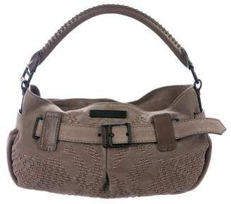 Burberry Buckle-Accented Suede Hobo