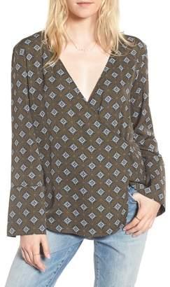 Treasure & Bond Wrap Pajama Top