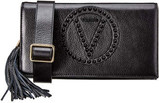 Mario Valentino Valentino By Lena Rock Dollaro Studs Leather Crossbody