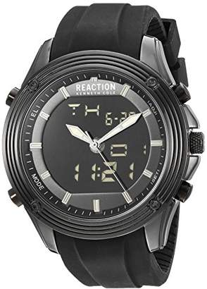 Kenneth Cole Reaction Men's 'ANA-Digit' Quartz Metal and Silicone Watch