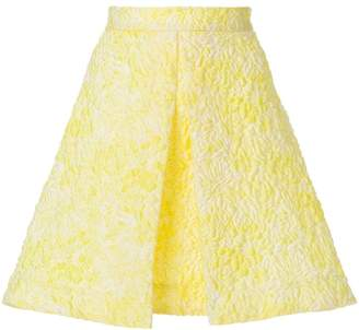 MSGM quilted embroidery A-line skirt