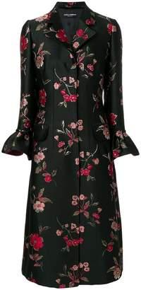 Dolce & Gabbana floral jacquard coat