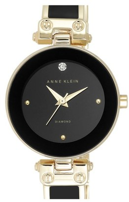 Women's Anne Klein Diamond Marker Bangle Watch, 28Mm $75 thestylecure.com