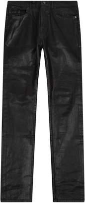 Saint Laurent Coated Skinny Low Rise Jeans