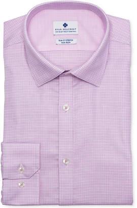 Ryan Seacrest Distinction Men's Ultimate Slim-Fit Non-Iron Performance Stretch Rose Dobby Dress Shirt