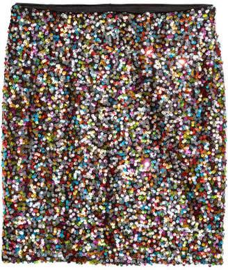H&M Glittery Skirt - Silver