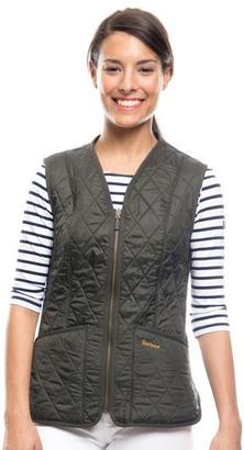 Barbour Barbour® Dark Olive Betty Zip-In Fleece Liner $66 thestylecure.com