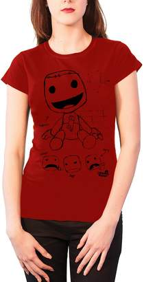 LTB Planet T Shirt Sackboy Sketch new Official Womens Skinny Fit