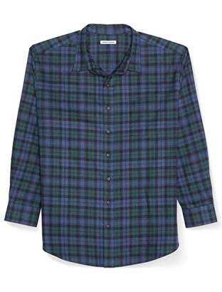 Amazon Essentials Men's Big and Tall Long-Sleeve Plaid Flannel Shirt