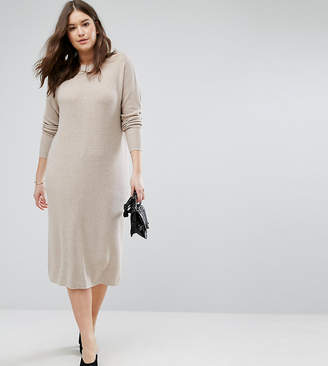 Asos Eco Knitted Dress In Super Soft Yarn