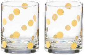 Kate Spade Pearl Place Double Old Fashioned Glass Set of 2