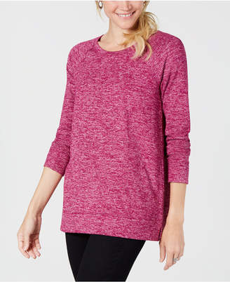 Style&Co. Style & Co Melange Raglan-Sleeve Knit Top