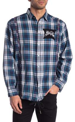 Diesel East Frayed Plaid Shirt