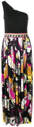 Emilio Pucci one shoulder maxi dress