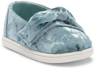 Toms Classic Frost Velvet Bow Slip-On Sneaker (Baby, Toddler, & Little Kid)