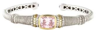 Judith Ripka Diamond & Pink Crystal Cuff