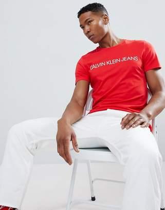 Calvin Klein Jeans Slim Fit T-Shirt With Script Logo Print