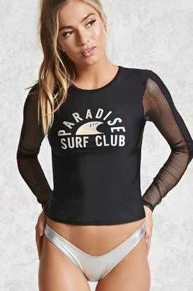 Forever 21 Active Surf Club Graphic Top