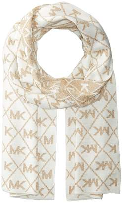 MICHAEL Michael Kors Diamond Metallic Logo Muffler Scarves