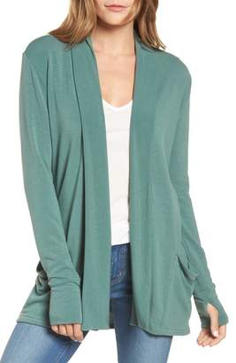 Caslon Off-Duty French Terry Cardigan