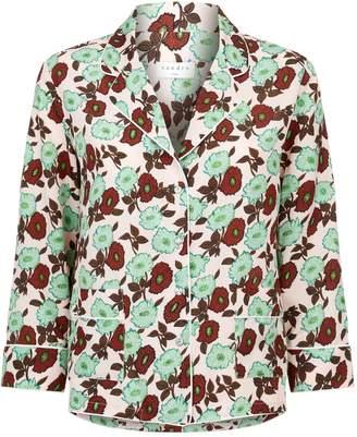 Sandro Floral Button Down Shirt