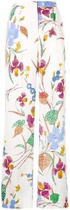 Diane von Furstenberg floral print straight trousers