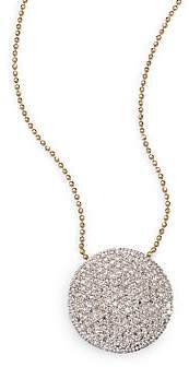 Phillips House Phillips House Women's Pavé Diamond& 14K Yellow Gold Infinity Disc Pendant Necklace