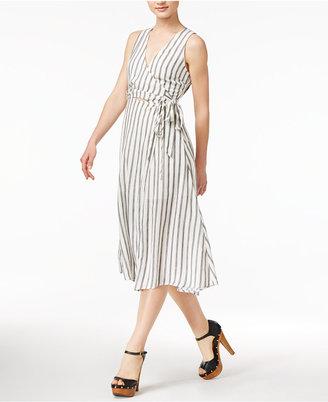 Astr Aida Striped Wrap Dress $110 thestylecure.com