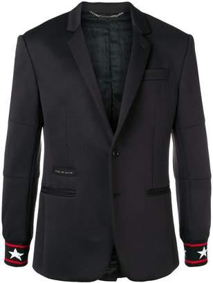 Philipp Plein star-cuff fitted blazer