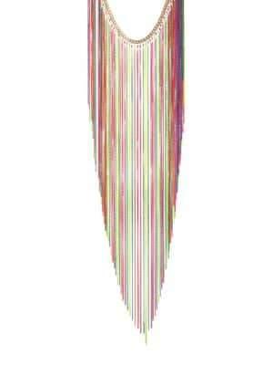 Rosantica Medusa Multicolor Fringe Necklace