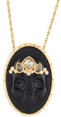Alexis Bittar Muse D'or Skull Pendant Necklace