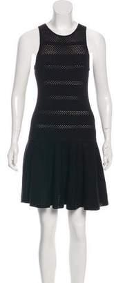 Alice + Olivia Wool Sleeveless Knee-Length Dress