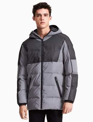 Calvin Klein id reflective long puffer jacket