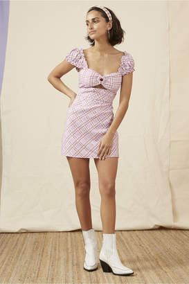 Finders Keepers NOSTALGIA MINI DRESS lilac check