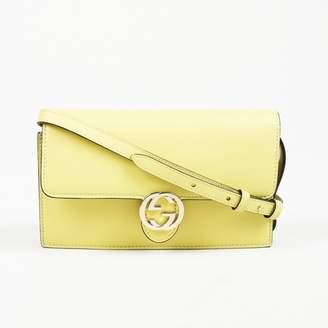 Gucci Yellow Leather Handbag