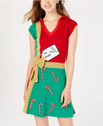 Hooked Up by Iot Juniors' Present Sweater Dress