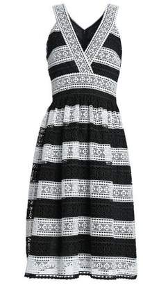 Kate Spade Gathered Two-Tone Guipure Lace Dress
