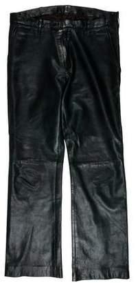 Prada Bootcut Leather Pants