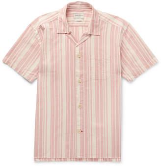 Oliver Spencer Loungewear - Farrow Striped Organic Cotton Pyjama Shirt
