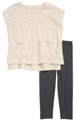 Splendid Boxy Sparkle Sweater & Leggings Set