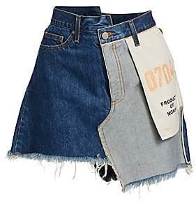 Monse Women's Inside-Out Denim Skirt
