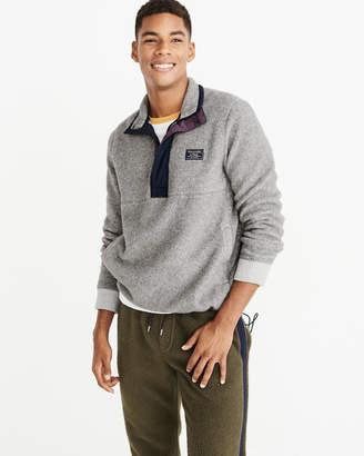 Abercrombie & Fitch Sherpa Half-Zip Sweatshirt