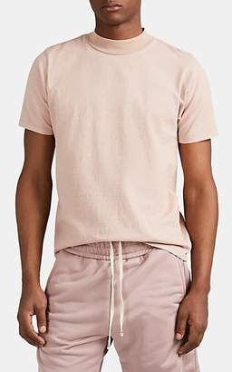 Les Tien Men's Cotton Mock-Turtleneck T-Shirt - Mauve