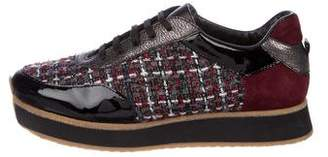 Aquatalia Tweed Low-Top Sneakers