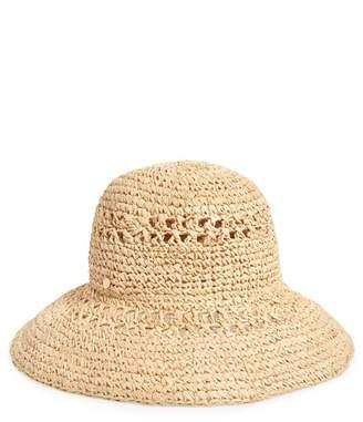 BCBGMAXAZRIA ZDNU Straw Bucket Hat