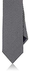 Barneys New York MEN'S HOUNDSTOOTH SILK-COTTON JACQUARD NECKTIE