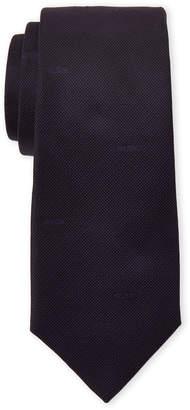 Moschino Purple Logo Silk Tie